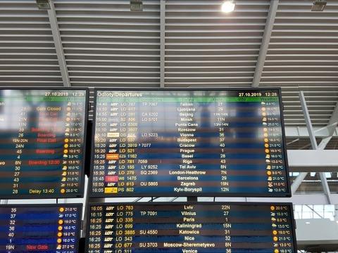 Informační letištní tabule