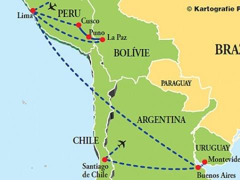 Peru - Bolívie - Argentina - Uruguay - Chile
