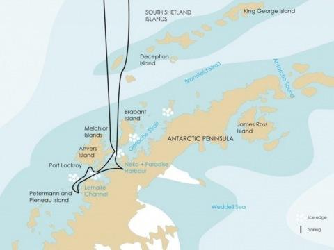 Antarktický poloostrov na lodi Plancius