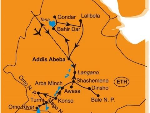 Etnická a Historická Etiopie - Jižní Okruh a Prodloužení O Severní Okruh
