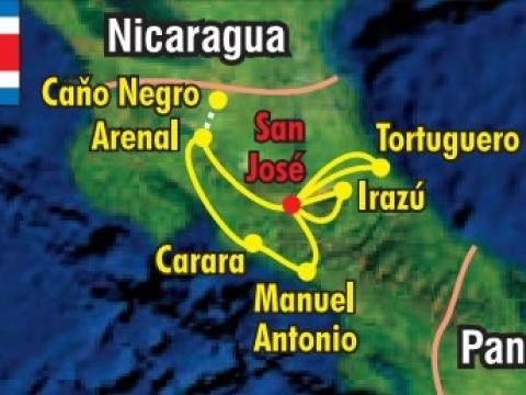 Velký okruh Kostarikou