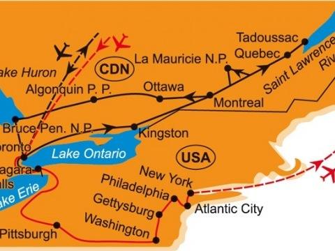 Kanada - Okruh Po Quebecu a Ontariu