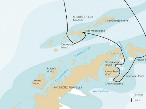 Hledání tučňáků císařských - Weddellovo moře na lodi Ortelius