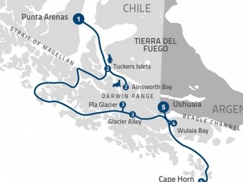 Fjords of Tierra del Fuego na lodi Ventus Australis