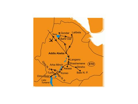 Etiopie - Etnická Etiopie - Jižní Okruh a Festival Donga