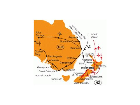 Nejmenší Kontinent - Nový Zéland
