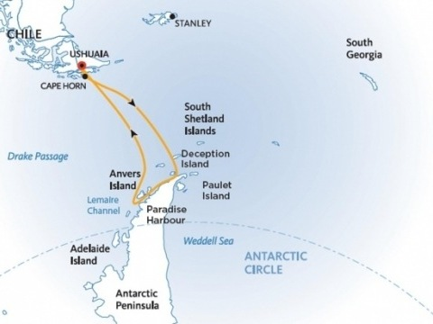 Výprava na Antarktidu: Objevování sedmého kontinentu na lodi Ocean Adventurer