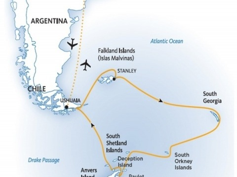 Falklandy, Jižní Georgia a Antarktida na lodi Ocean Adventurer