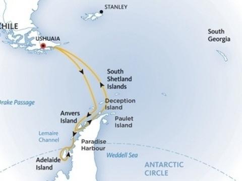 Za jižní polární kruh na lodi Ocean Adventurer
